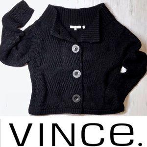 EUC Vince Cashmere Blend Crop Cardigan Sweater